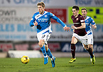 St Johnstone v Hearts…05.04.17     SPFL    McDiarmid Park<br />David Wotherspoon gets away from Jamie Walker<br />Picture by Graeme Hart.<br />Copyright Perthshire Picture Agency<br />Tel: 01738 623350  Mobile: 07990 594431