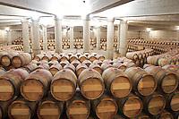 circular barrel aging cellar ch lafite rothschild pauillac medoc bordeaux france