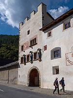 Benedictine monastery in Müstair, Val Müstair-Münster Valley, Engadine, Grisons, Switzerland, UNESCO heritage site