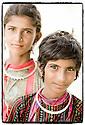 Inde- désert du Rajasthan, jeunes bergères.