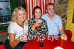 Enjoying the evening in the Horseshoe Bar in Listowel on Thursday, l to r: Antoinette Dolan (Galway), Noreen O'Sullivan (Beaufort) and Pat Kenny (Galway).