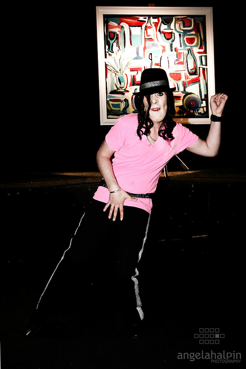 """Daniel Murphy (Irelands Michael Jackson)  at the launch of """"Nick Munier"""" (well known as the Maitre D' in the reality TV show 'Hell's Kitchen) Art Exhibition at Andrews Lane Theatre. Fri 26th June 2006"""