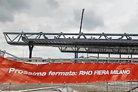 - yard for the construction of new railway station at Milan - Rho fair ....- cantiere per la costruzione della nuova stazione ferroviaria presso la fiera di Milano - Rho