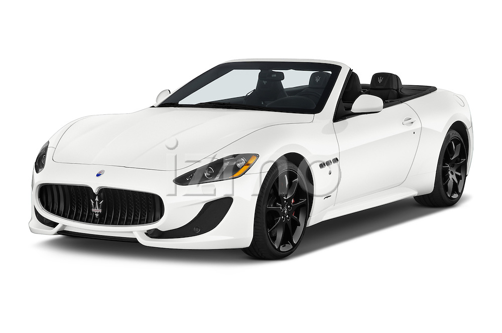 2017 Maserati GranTurismo Convertible Sport Door convertible Angular Front stock photos of front three quarter view