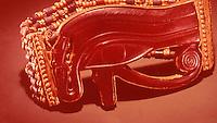 Egypt:  Flexible Bead Bracelets--gold falence, glass beads.  Treasures of  Tutankhamun, Cairo Museum.  MMA 1976.