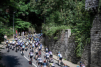 peloton up the Keizerberg climb<br /> <br /> 55th Grote Prijs Jef Scherens - Rondom Leuven 2021 (BEL)<br /> <br /> One day race from Leuven to Leuven (190km)<br /> ridden over the final circuit of the 2021 World Championships road races <br /> <br /> ©kramon
