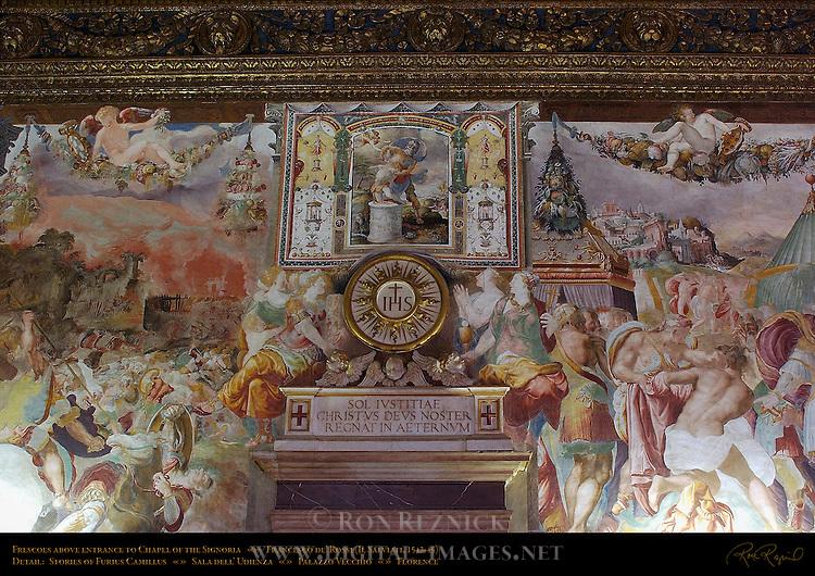 Fresco over Chapel of Signoria Entrance Sala dell'Udienza (Audience Hall) Palazzo Vecchio Florence