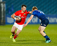 23th April 2021; RDS Arena, Dublin, Leinster, Ireland; Rainbow Cup Rugby, Leinster versus Munster; Calvin Nash of Munster is tackled by Tommy O'Brien of Leinster