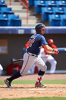 Atlanta Braves first baseman Juan Yepez (92) during an Instructional League game against the Washington Nationals on September 30, 2016 at Space Coast Stadium in Melbourne, Florida.  (Mike Janes/Four Seam Images)