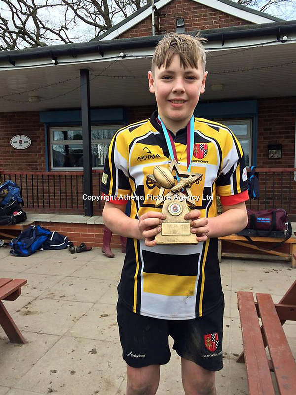 """Pictured: James O'Mara, image taken from relative's open social media account<br /> Re: A young rugby player died just a week after being diagnosed with leukaemia. <br /> James O'Mara, 13, was a happy and healthy schoolboy but suddenly complained of feeling unwell.<br /> His family thought he had a sickness bug but tests showed James had acute myloid leukaemia.<br /> He battled the illness for just a week before dying at Birmingham Children's Hospital surrounded by his heartbroken family.<br /> His aunt Amanda Tanner, 41, said: """"He was always laughing, joking and smiling - he didn't see the point in homework.<br /> """"He loved being outside doing anything that could be adventurous."""