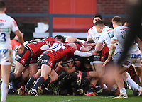26th March 2021; Kingsholm Stadium, Gloucester, Gloucestershire, England; English Premiership Rugby, Gloucester versus Exeter Chiefs; the Gloucester maul drives towards the try line for Henry Walker to score his second try