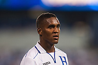 Honduras defender Brayan Beckeles (3) Honduras defeated Haiti 2-0 during a CONCACAF Gold Cup group B match at Red Bull Arena in Harrison, NJ, on July 8, 2013.