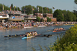 "Students. Oxford University Rowing Clubs Eights Week. Rowing races on the River Isis Oxford. (actually the River Thames). Summer Eights is a ""bumps race"" intercollegiate rowing regatta takes place end of May in Trinity Term. Rowing boat club houses."