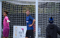 Sam Mason-Smith during the Central League football match between Miramar Rangers and Lower Hutt AFC at David Farrington Park in Wellington, New Zealand on Saturday, 10 April 2021. Photo: Dave Lintott / lintottphoto.co.nz