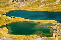 Lake Angelus and Angelus Hut, Nelson Lake National Park, South Island, New Zealand, NZ