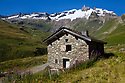 Stone building, Tour de Mont Blanc, French Alps, France.