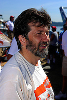 "David Williams, driver of both the U-9 ""Jones Racing"" and the U-77 ""Miss Wahoo"" (Replica of the vintage 1956 hull built in 2009)...1-2 August, 2009 Seattle, Washington USA..©2009 F.Peirce Williams USA.."