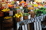Fruit and vegetables at a farmer's market