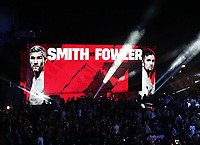 9th October 2021; M&S Bank Arena, Liverpool, England; Matchroom Boxing, Liam Smith versus Anthony Fowler;  view of the giant screen prior to the main bout of the evening