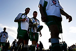 North Ferriby players leave the pitch with the trophy. Vanarama National League North, Promotion Final, North Ferriby United v AFC Fylde, 14th May 2016.