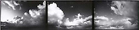 Panoramic view of cloudy skies (triptych)<br />