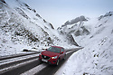 18/11/16<br /> <br /> A car makes its way up Winnats Pass after heavy snowfall turns the Peak District near Castleton into a winter wonderland.<br /> <br /> All Rights Reserved F Stop Press Ltd. (0)1773 550665   www.fstoppress.com