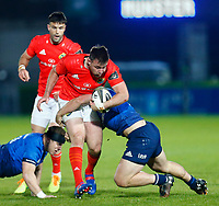 23th April 2021; RDS Arena, Dublin, Leinster, Ireland; Rainbow Cup Rugby, Leinster versus Munster; Niall Scannell of Munster is tackled