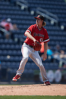 Rochester Red Wings relief pitcher Nick Wells (43) in action against the Scranton/Wilkes-Barre RailRiders at PNC Field on July 25, 2021 in Moosic, Pennsylvania. (Brian Westerholt/Four Seam Images)