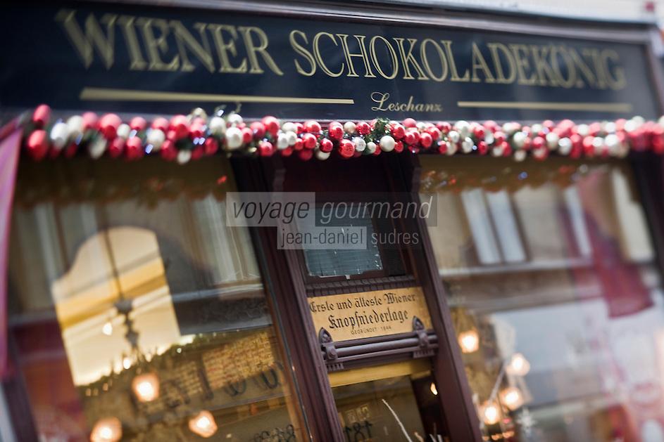 Europe/Autriche/Niederösterreich/Vienne: Façade d'une Chocolaterie , Confiserie - Rue Freisingergasse