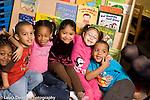 Education Preschool 3-4 year olds happy group posing horizontal