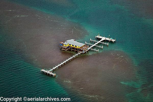 aerial photograph Stiltsville Miami, Florida