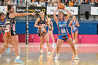 6th June 2021; Ken Rosewall Arena, Sydney, New South Wales, Australia; Australian Suncorp Super Netball, New South Wales, NSW Swifts versus Giants Netball; Natalie Haythornthwaite of NSW Swifts looks to pass the ball