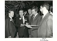 Joe Clark le 27 fevrier 1982<br /> <br /> PHOTO : agence quebec presse