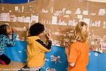 Elementary school Grade 4 social studies group project vast map of ship children filling in details