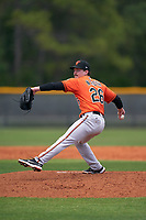 Baltimore Orioles pitcher Nick Roth (26) during a Minor League Spring Training game against the Tampa Bay Rays on April 23, 2021 at Charlotte Sports Park in Port Charlotte, Florida.  (Mike Janes/Four Seam Images)