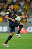 Harry KEWELL (10) of Australia controls the ball during the FIFA 2014 World Cup Group D Asian Qualifier match between Australia and Saudi Arabia at AAMI Park in Melbourne, Australia...This image is not for sale on this web site. Please contact Southcreek Global Media for licensing:.Toll Free: 1.800.934.5030.Canada: 701 Rossland Rd. East, Suite 315, Whitby, Ontario, Canada, L1N 9K3.USA: 10792 Baron Dr, Parma OH, USA 44130.Web: http://southcreekglobal.net/ and http://southcreekglobal.com/