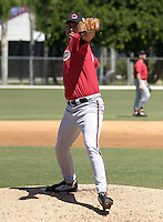March 30, 2004:  David Gil of the Cincinnati Reds organization during Spring Training at Ed Smith Stadium in Sarasota, FL.  Photo copyright Mike Janes/Four Seam Images