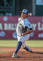 31 July 2016: Vermont Lake Monsters pitcher Jesus Zambrano on the mound against the Connecticut Tigers at Centennial Field in Burlington, Vermont. The Lake Monsters edged out the Tigers 4-3 in NY Penn League action.  Mandatory Credit: Ed Wolfstein Photo *** RAW (NEF) Image File Available ***