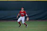 Potomac Nationals outfielder Cole Freeman (2) catches a fly ball during a Carolina League game against the Myrtle Beach Pelicans on August 14, 2019 at Northwest Federal Field at Pfitzner Stadium in Woodbridge, Virginia.  Potomac defeated Myrtle Beach 7-0.  (Mike Janes/Four Seam Images)