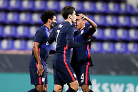WIENER NEUSTADT, AUSTRIA - NOVEMBER 16: Giovanni Reyna #7 of the United States scores a goal and celebrates with team mate Weston McKennie #8 during a game between Panama and USMNT at Stadion Wiener Neustadt on November 16, 2020 in Wiener Neustadt, Austria.