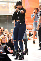 NEW YORK CITY, NY, USA - AUGUST 19: Singer Jennifer Hudson performs on NBC's 'Today' at Rockefeller Plaza on August 19, 2014 in New York City, New York, United States. (Photo by Jeffery Duran/Celebrity Monitor)
