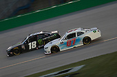 Riley Herbst (18) races for the Shady Rays 200 at Kentucky Speedway in Sparta, Kentucky.