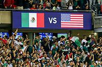 CHICAGO, ILLINOIS - JULY 07: Mexico vs USA during the 2019 CONCACAF Gold Cup Final match between the United States and Mexico at Soldier Field on July 07, 2019 in Chicago, Illinois.