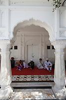 Asia,India,Punjab, Amristar, Golden temple,Palki Sahib where is the Sikh holy book,. pilgrims