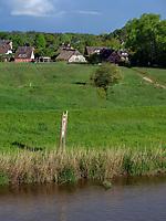 Flussaue der Oste bei Hechthausen, Samtgemeinde Hennmor, Kreis Cuxhaven, Niedersachsen, Deutschland, Europa<br /> river meadow of river Oste near Hechthausen, district Hennmoor, county Cuxhaven, Lower Saxony, Germany, Europe