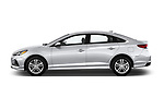 Car driver side profile view of a 2018 Hyundai Sonata SEL 4 Door Sedan