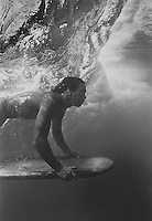 Hawaiian Surfer with Ancient Board