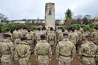 Saturday 11 November 2017<br /> Re: Armistice Day, two minutes were observed to mark remembrance at the Cenotaph in Swansea, Wales, UK.