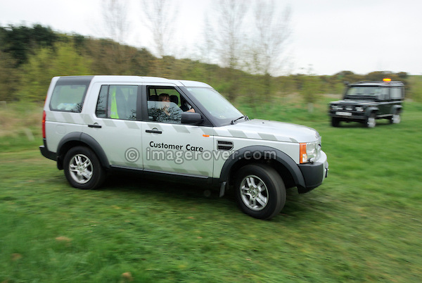 Customer Care Land Rover Discovery 3 supporting the Gaydon Heritage Land Rover Run 2006. Europe, England, UK. --- No releases available. Automotive trademarks are the property of the trademark holder, authorization may be needed for some uses.