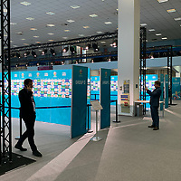Interviewbereiche der Gruppen in der Romexpo - 30.11.2019: UEFA EURO2020 Auslosung, Romexpo Bukarest, DISCLAIMER: UEFA regulations prohibit any use of photographs as image sequences and/or quasi-video.